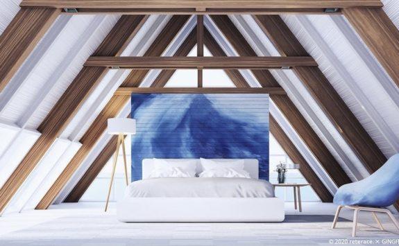 藍×モールテックス。徳島の藍を使った藍デザインコンクリートで個性的なお家に。